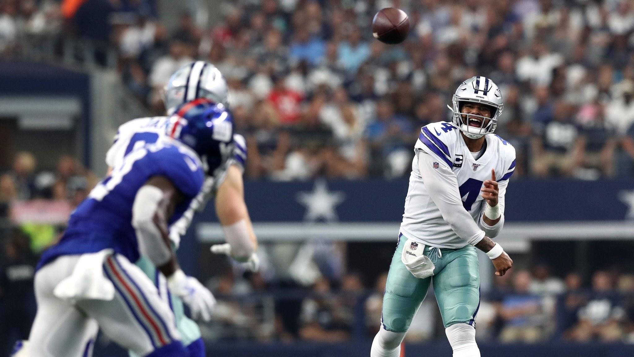 Los Dallas Cowboys vencieron 35-17 a los Gigantes de Nueva York en la semana 1 de la NFL de la mano del QB Dak Prescott.